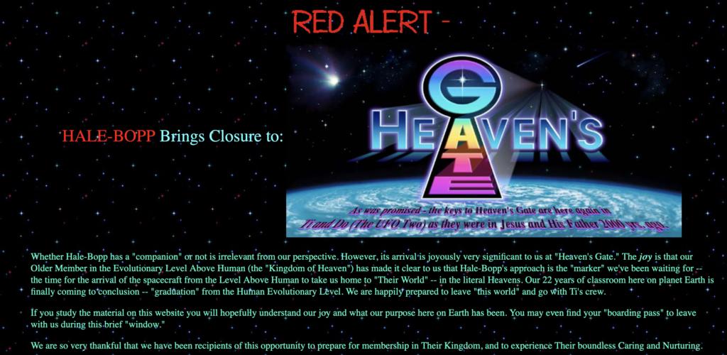 e4aa71228c4f7b ... Screenshot of Heaven s Gate website