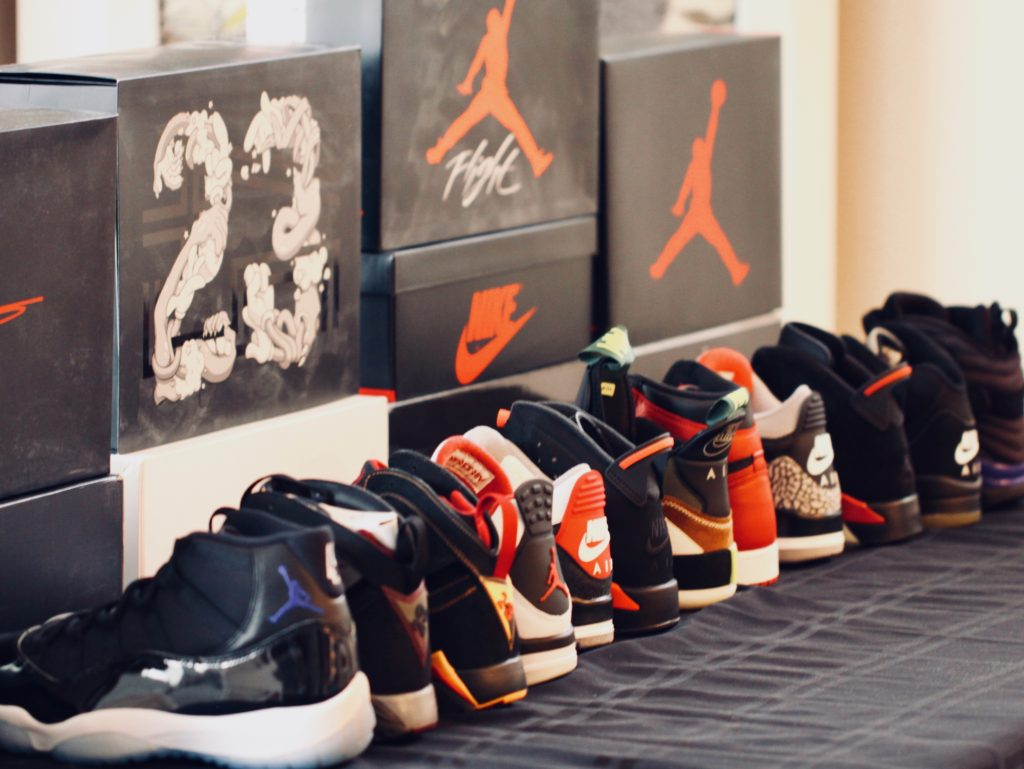 e841c337c516 A sampling of Jared s Air Jordan collection – purchased from a variety of  sources including local sneaker shops